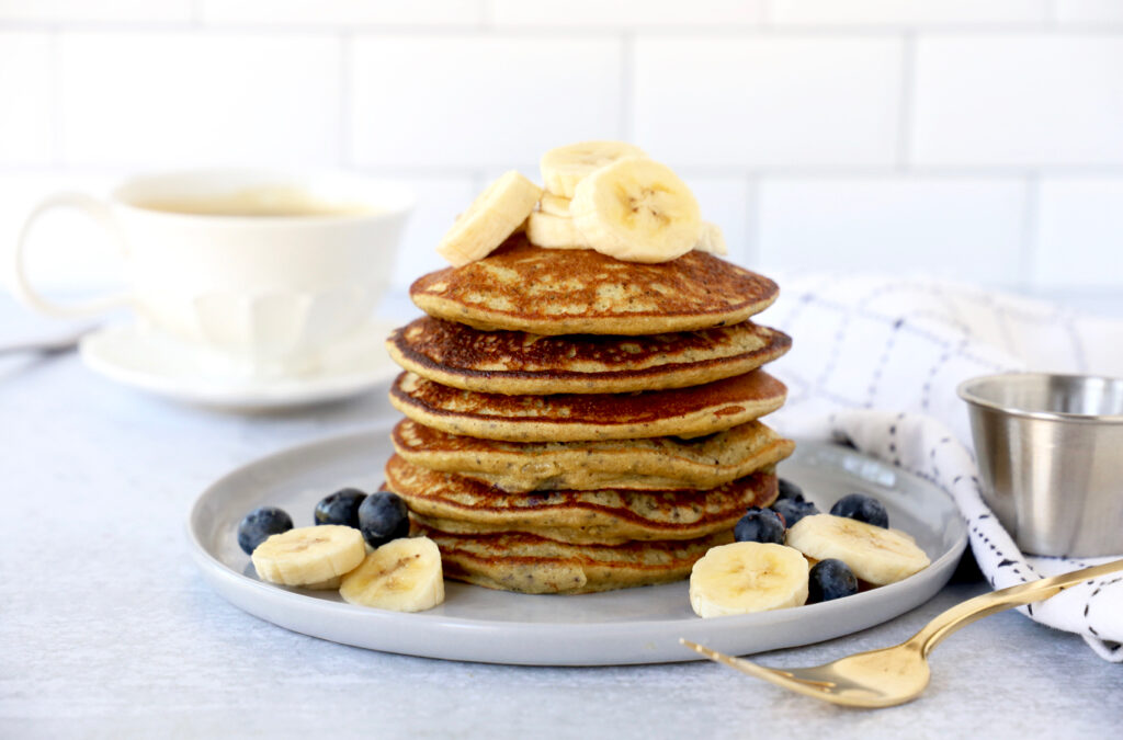 Banana and Blueberry Chia Seed Pancake