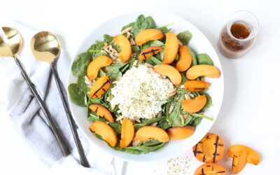 Spinach and Grilled Apricot Salad