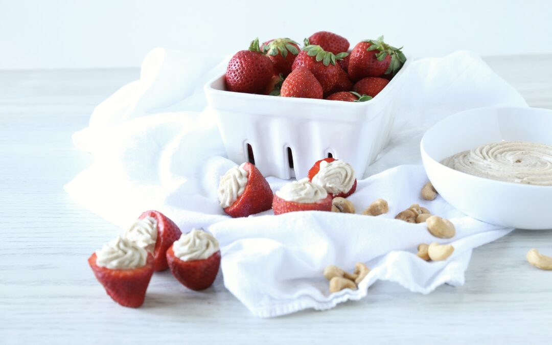 Cashew Whipped Cream Strawberries