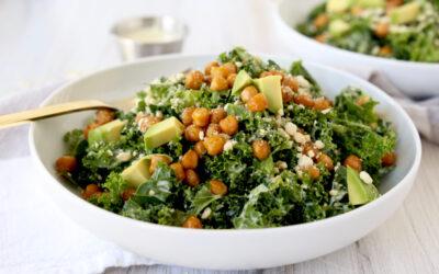 Cashew-Kale Caesar Salad